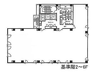銀座木挽ビル 6階間取りのサムネイル画像