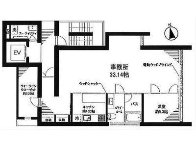初台2314ビル 3階(SOHO)間取りのサムネイル画像