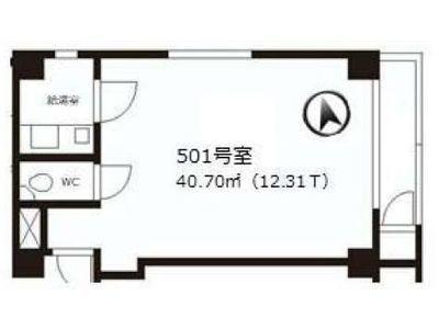 二葉ビル(港区三田) 501号室間取りのサムネイル画像