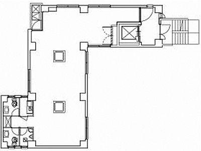 アサヒKビル 3階間取りのサムネイル画像