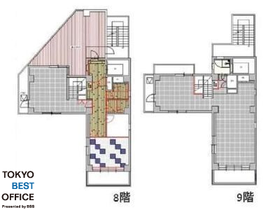 ism神田(旧称:ヤマダビル) 8+9階間取りのサムネイル画像