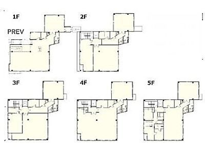 1階~5階(一棟貸・店舗可)の間取り画像