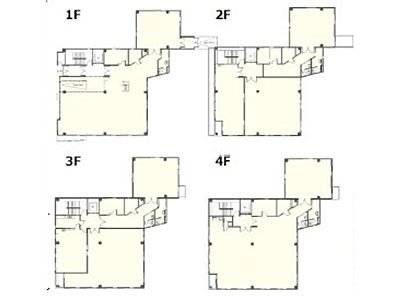 イプソンビル 1階~4階(店舗可)間取りのサムネイル画像