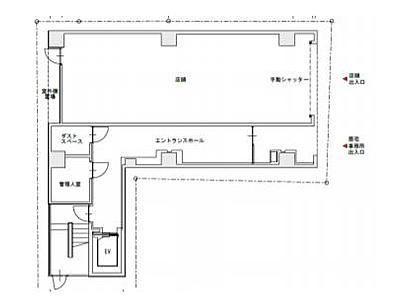 KAMAYAビル(中央区) 1階(店舗可)間取りのサムネイル画像