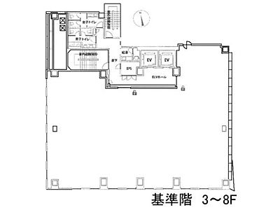 秋葉原ビルディング 4階間取りのサムネイル画像