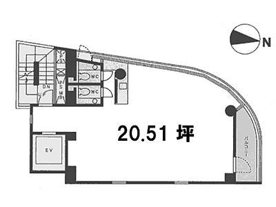 9 STAGE Kanda 6階間取りのサムネイル画像