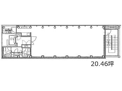 GINZA-2 7階間取りのサムネイル画像