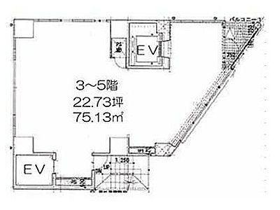 LASPACIO浅草レジデンス 3階(店舗限定)間取りのサムネイル画像