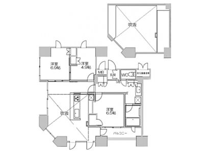 13階1302(SOHO)の間取り画像