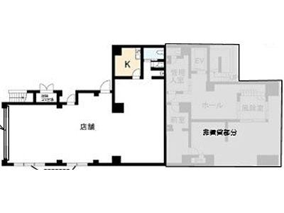 (仮称)浅草1丁目計画 1階(店舗限定)間取りのサムネイル画像