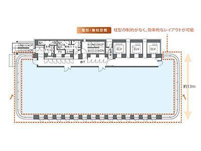 DLXビルディング 8階間取りのサムネイル画像
