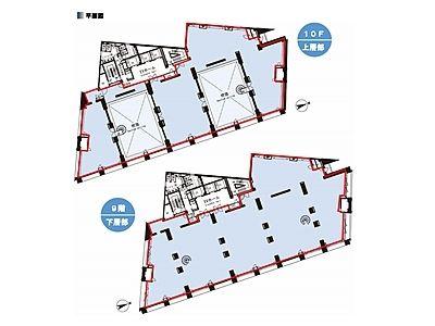 STADIUM PLACE AOYAMA(スタジアムプレイス青山) 9階~10階間取りのサムネイル画像