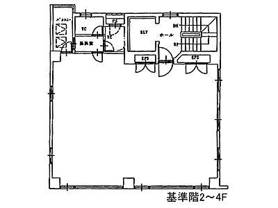 第6矢木ビル(第六矢木ビル) 4階間取りのサムネイル画像