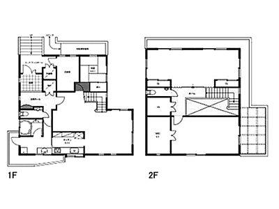 千駄木三丁目住居 1・2一括貸し 1階~2階(一棟貸・SOHO)間取りのサムネイル画像