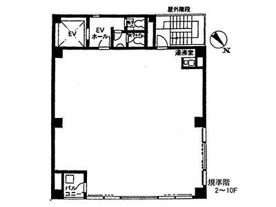 アクア神田ビル 10階間取りのサムネイル画像