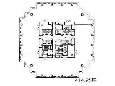 青海フロンティアビル 9階間取りのサムネイル画像