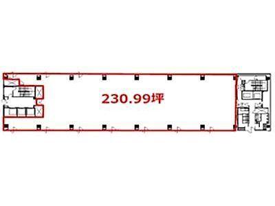ヒューリック銀座ファーストビル 5階(倉庫付)間取りのサムネイル画像