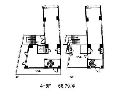 JECTONE神宮前ビル 4階~5階(店舗可)間取りのサムネイル画像