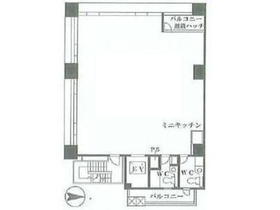 フェリスビル 2階間取りのサムネイル画像