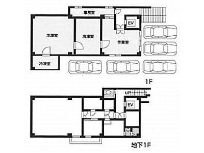 やまね武蔵小山BLDG 地下1階~1階(店舗可)間取りのサムネイル画像