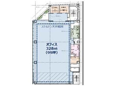 KANDA SQUARE GATE(旧:(仮称)内神田一丁目本郷通PJ) 2階間取りのサムネイル画像