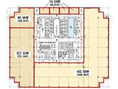 品川グランドセントラルタワー 24階間取りのサムネイル画像