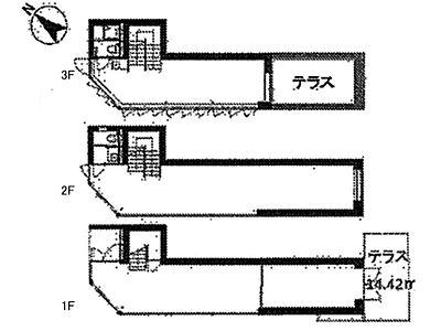 第20スカイビルANNEX 1階~3階(一棟貸・店舗可)間取りのサムネイル画像