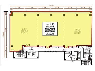 NBF東銀座スクエア 4階401間取りのサムネイル画像