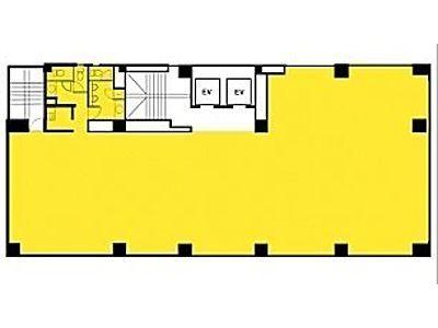 雷電ビル(旧:クマヒラ第二ビル) 5階間取りのサムネイル画像