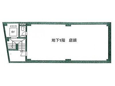 エトワールUビル 地下1階(店舗限定)間取りのサムネイル画像