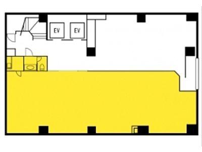 雷電ビル(旧:クマヒラ第二ビル) 1階間取りのサムネイル画像