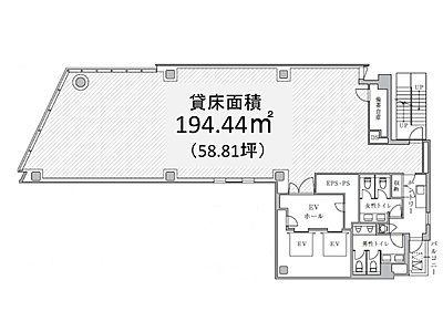 PMO神田岩本町Ⅱ 3階間取りのサムネイル画像