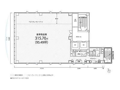 PMO日本橋茅場町 3階間取りのサムネイル画像