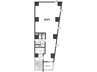 芝MKビル 2階間取りのサムネイル画像