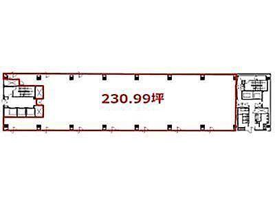 ヒューリック銀座ファーストビル 6階(倉庫付)間取りのサムネイル画像