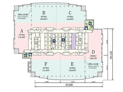恵比寿ガーデンプレイスタワー 14階ABC間取りのサムネイル画像