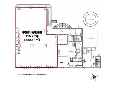 東池袋センタービル 1階(店舗可)間取りのサムネイル画像