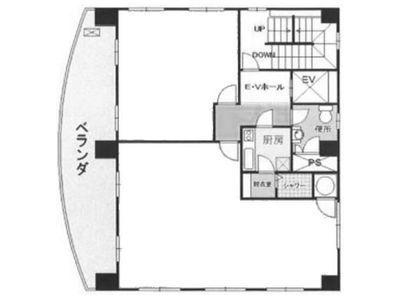 ヒマワリビル 5階(SOHO・店舗可)間取りのサムネイル画像