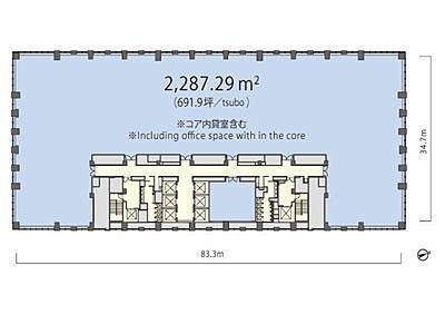 丸の内トラストタワーN館 14階間取りのサムネイル画像