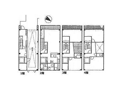 日本橋戸建住宅(旧:ギントモビル) 4SLDK+3WIC(一棟貸)間取りのサムネイル画像