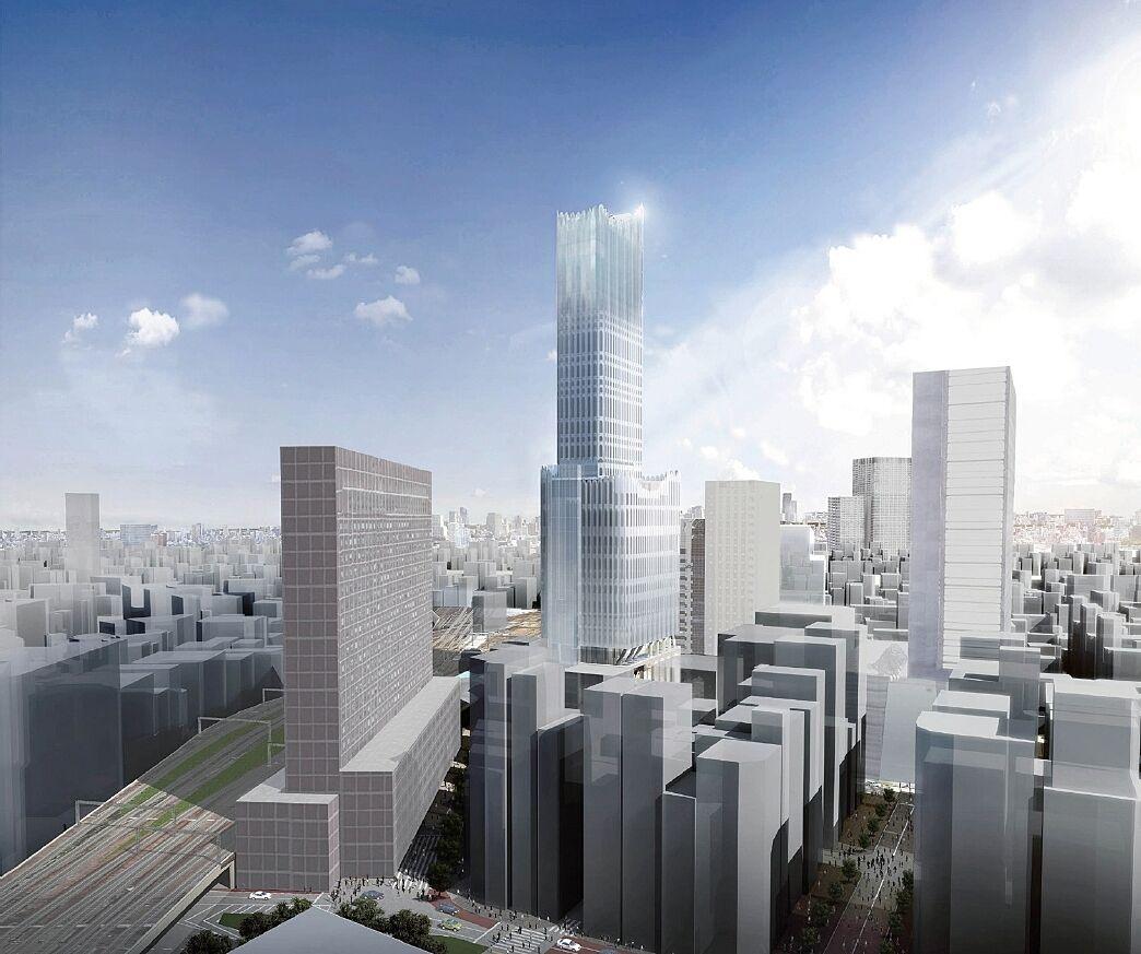 新宿 TOKYU MILANO 再開発計画 竣工パース(新宿駅方面から)