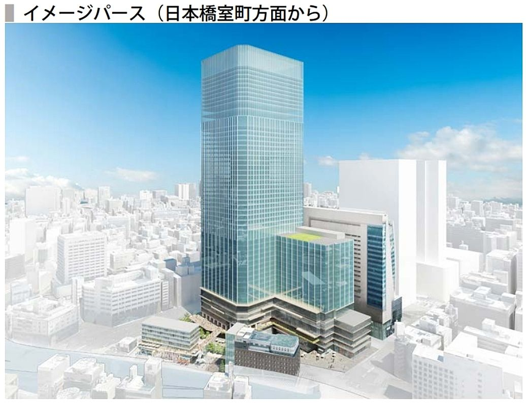 日本橋一丁目中地区第一種市街地再開発事業 竣工イメージパース