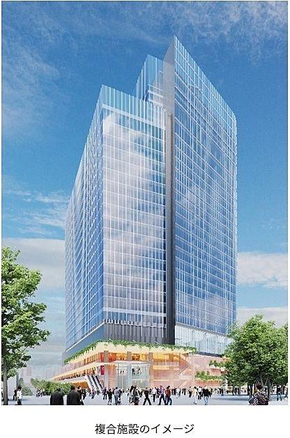 品川駅西口地区地区計画 複合施設イメージパース