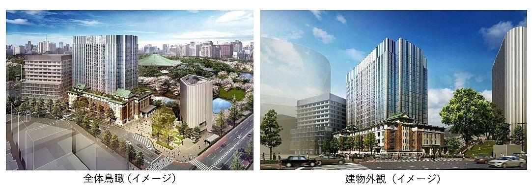 (仮称)九段南一丁目プロジェクト※(旧)九段会館建替え 建物外観 竣工パース