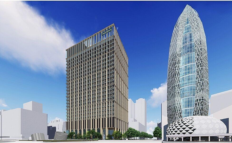 (仮称)西新宿一丁目地区プロジェクト 竣工パースイメージ