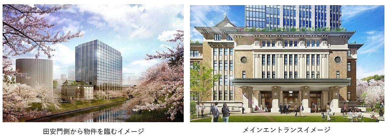 (仮称)九段南一丁目プロジェクト※(旧)九段会館建替え メインエントランス 竣工パース