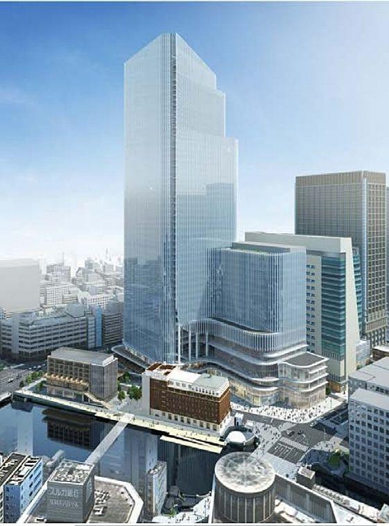 日本橋一丁目中地区第一種市街地再開発事業竣工パース