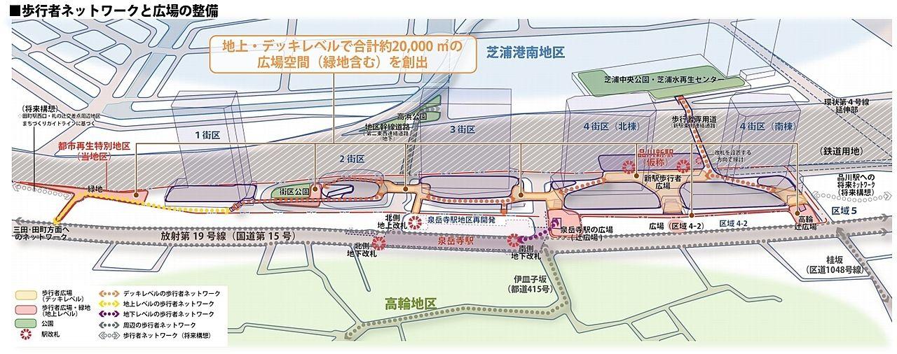 品川開発プロジェクト(第Ⅰ期)歩行者ネットワークと広場の整備