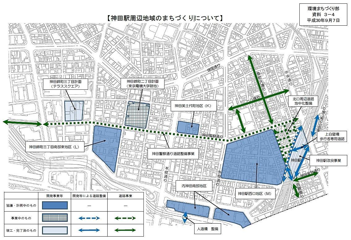 神田駅周辺地域のまちづくりについて(千代田区環境まちづくり部資料 平成30年9月7日)