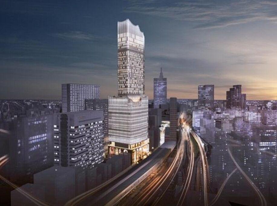 新宿 TOKYU MILANO 再開発計画 竣工パース(大久保方面から)